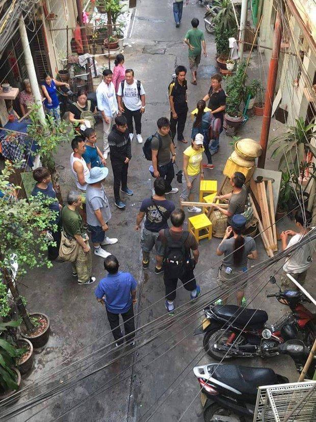 Sao TVB Quách Tấn An, Huỳnh Đức Bân, Chu Thần Lệ được fan bắt gặp quay phim tại Chợ Lớn - Ảnh 3.