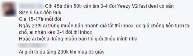 Chưa tới giờ lên kệ, giày Yeezy 350 V2 đã được nhiều bạn trẻ Việt sẵn sàng mua lại với giá 17 triệu VNĐ/đôi - Ảnh 2.