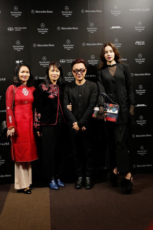 Hà Hồ diện cây đen đến ủng hộ Công Trí tại Tokyo Fashion Week - Ảnh 6.