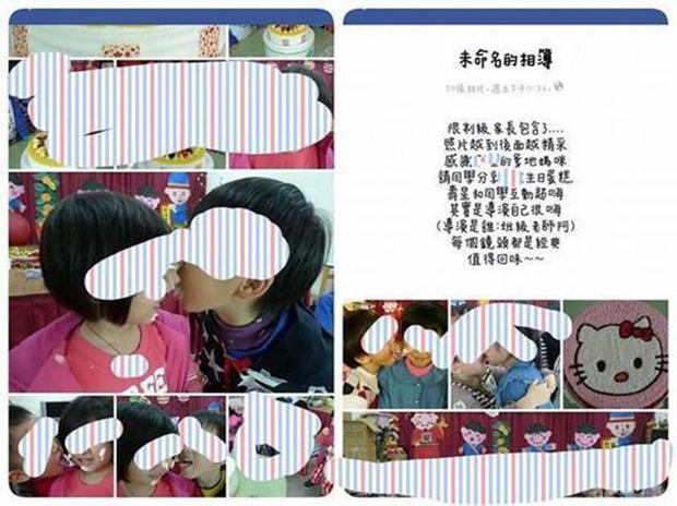 Loạt ảnh học sinh mẫu giáo dùng miệng mớm trái cây, liếm kem bơ trên mặt bạn khác giới gây tranh cãi - Ảnh 3.