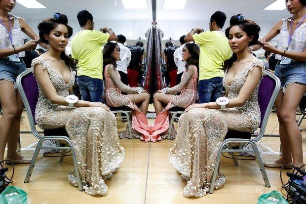 Chùm ảnh: Hậu trường cuộc thi Hoa hậu chuyển giới được quan tâm nhất Thái Lan - Ảnh 7.