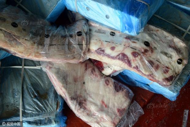Cảnh sát Trung Quốc thu giữ gần 200 tấn thực phẩm đông lạnh bẩn ở khu vực biên giới - Ảnh 9.