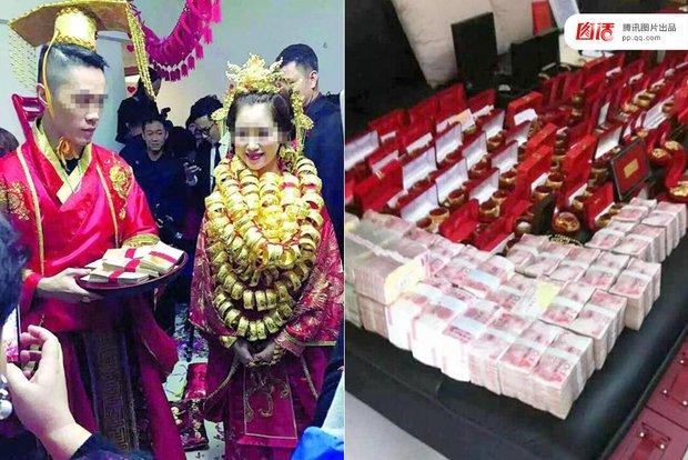 Những đám cưới toàn vàng ròng ở Trung Quốc luôn khiến người ta phải choáng ngợp - Ảnh 6.