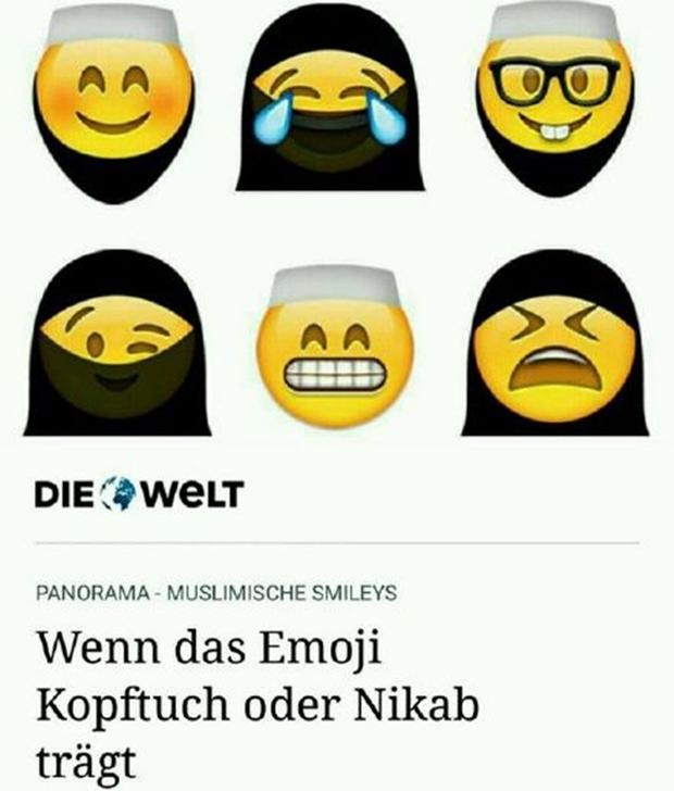 Ả Rập Saudi bắt cả Emoji cũng phải đeo mạng che mặt Hồi giáo, và đây là kết quả - Ảnh 1.