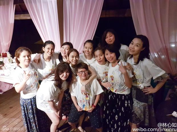 Lâm Tâm Như mở tiệc chia tay cuộc đời độc thân ngập tràn sắc hồng - Ảnh 1.
