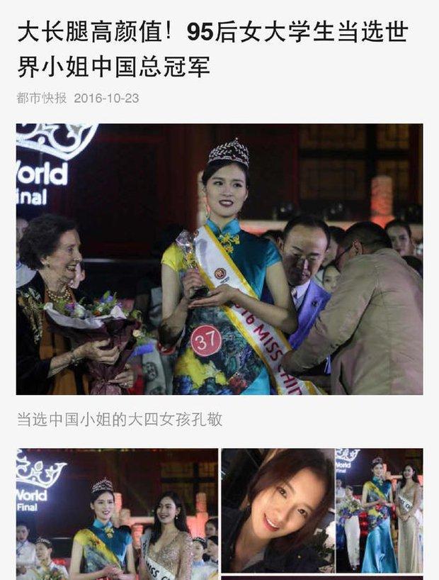 Hoa hậu Trung Quốc bị tố đá bay bạn trai ngay sau khi đăng quang - Ảnh 4.