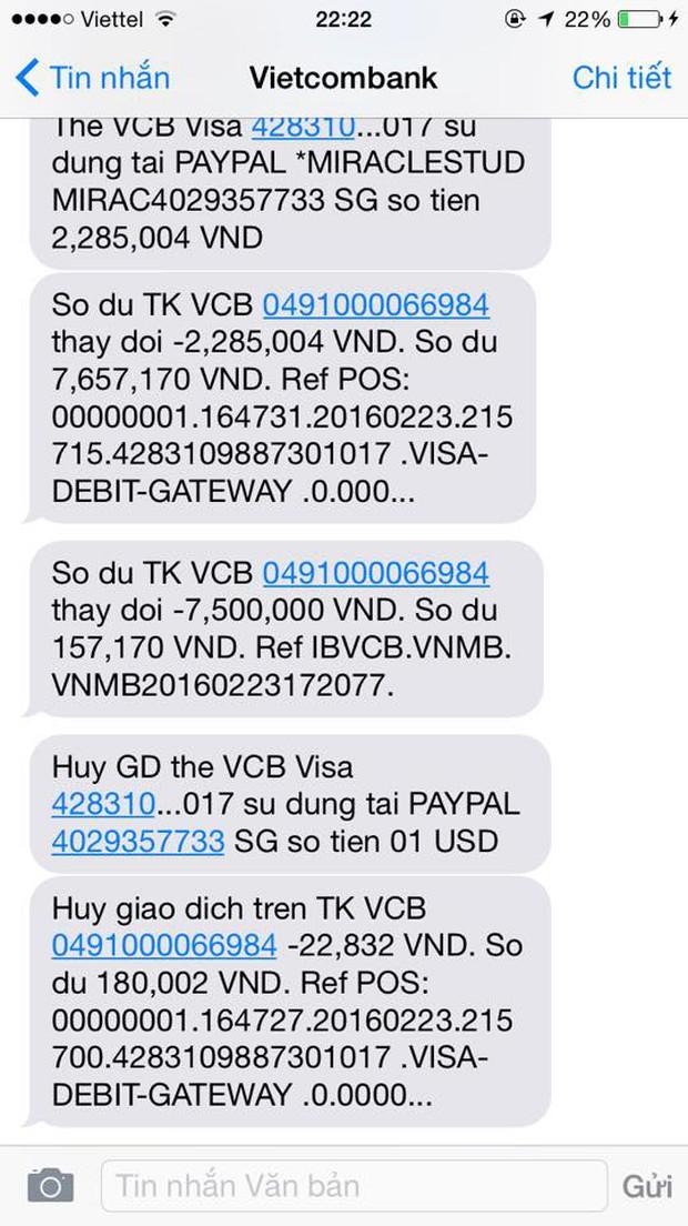 Khách nữ nghi bị hacker trộm sạch 2.000 USD trong tài khoản, Vietcombank nói gì? - Ảnh 2.