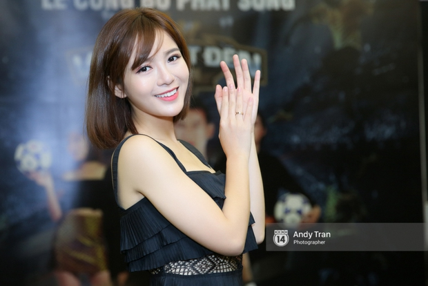 Hot girl Tú Linh M.U cực xinh trong buổi ra mắt gameshow bóng đá - Ảnh 5.