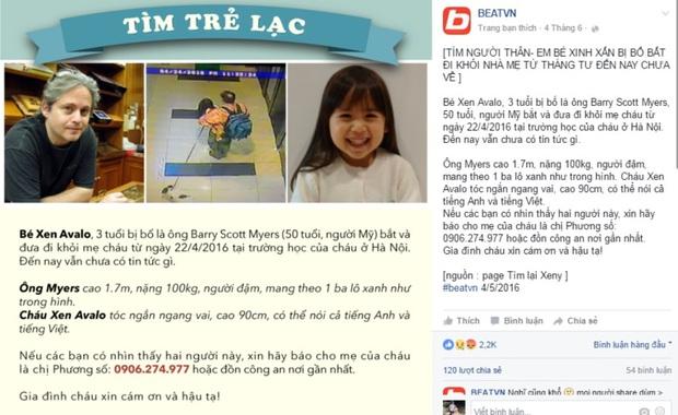 Hà Nội: Người mẹ nhờ cư dân mạng tìm tung tích con gái bị cha ngoại quốc đưa đi khỏi trường - Ảnh 1.