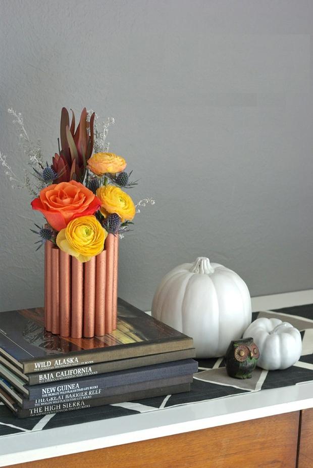 Lọ hoa ống đồng trông sang chảnh mà ai làm cũng được - Ảnh 10.