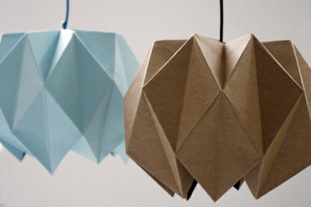 Tỉ mẩn gấp giấy origami làm đèn treo đẹp như quán café - Ảnh 9.