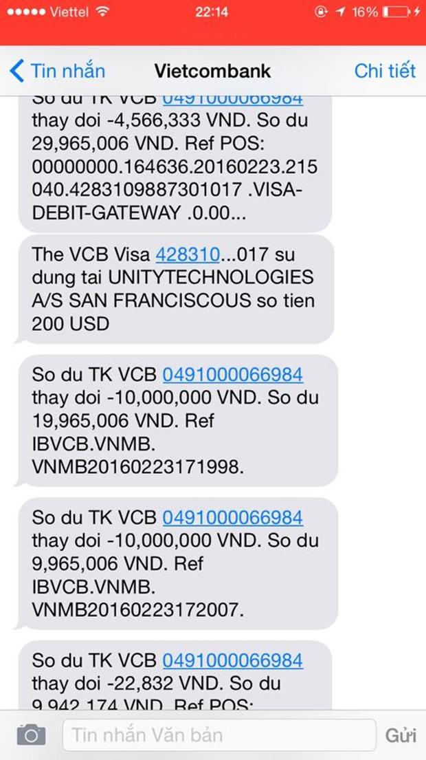 Khách nữ nghi bị hacker trộm sạch 2.000 USD trong tài khoản, Vietcombank nói gì? - Ảnh 3.