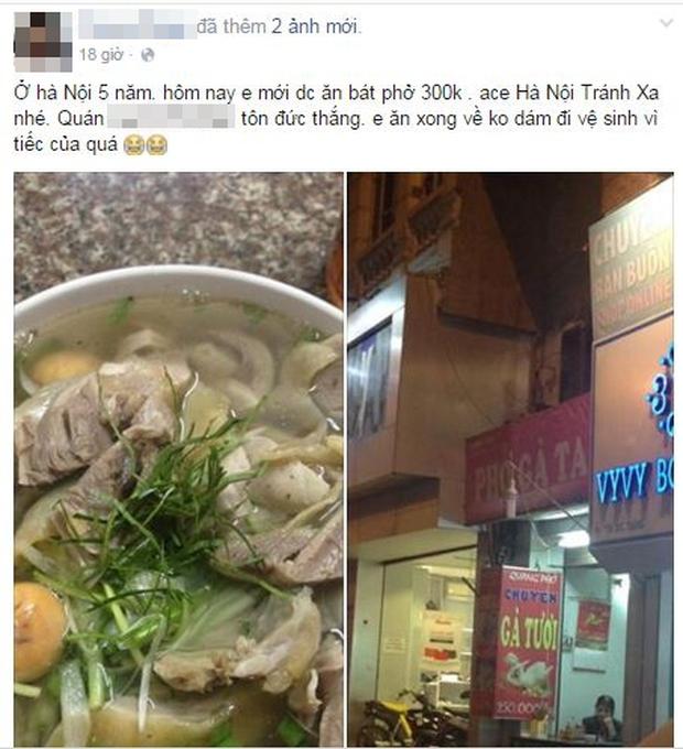 Tranh cãi quán phở bình dân chém đẹp 300.000 đồng/bát phở gà ở Hà Nội - Ảnh 1.