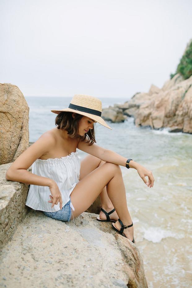 Tự làm áo không dây đi biển cực dễ chỉ với chun và vải - Ảnh 9.