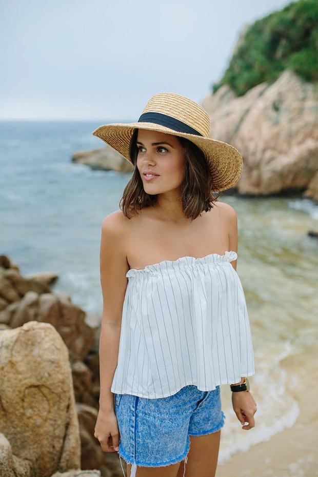 Tự làm áo không dây đi biển cực dễ chỉ với chun và vải - Ảnh 10.