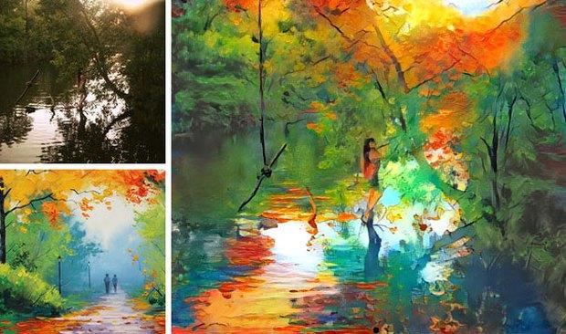 Những tác phẩm kết hợp kỳ diệu của nhiếp ảnh và hội họa - Ảnh 12.