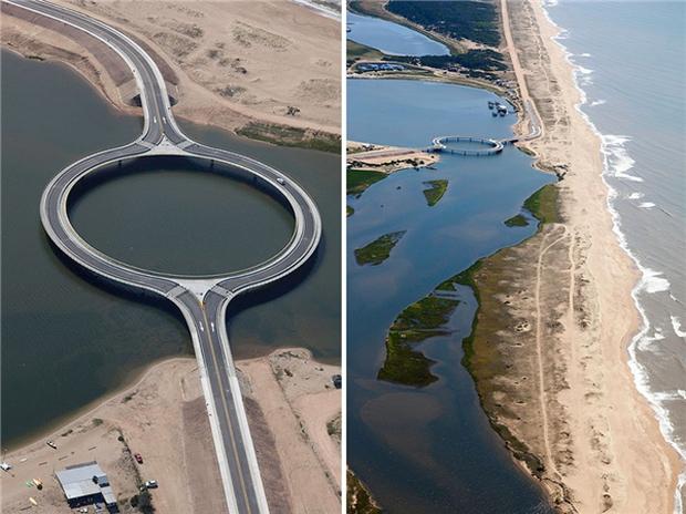 Kỳ lạ cây cầu hình tròn vừa đi vừa ngắm cảnh tại Uruguay - Ảnh 3.