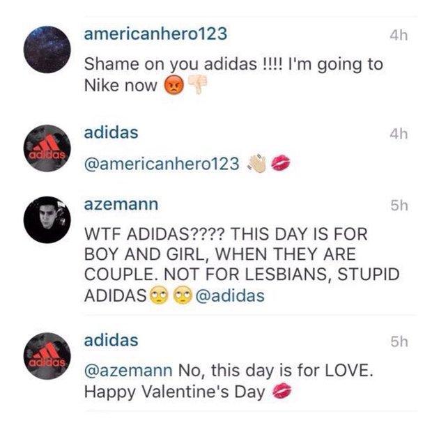 Nể phục trước cách adidas phản ứng với những kẻ bài trừ đồng tính dịp Valentine - Ảnh 2.