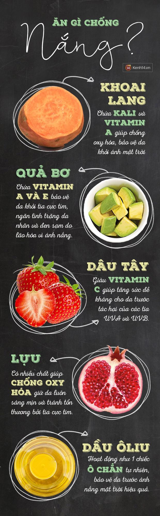 5 thực phẩm cần tăng cường để da không bắt nắng - Ảnh 2.