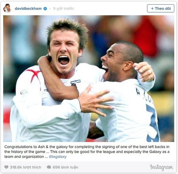 Beckham chúc mừng Ashley Cole gia nhập đội bóng cũ LA Galaxy - Ảnh 2.