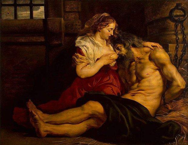 Câu chuyện bất ngờ đằng sau bức tranh ông già ngậm bầu ngực cô gái trẻ - Ảnh 4.