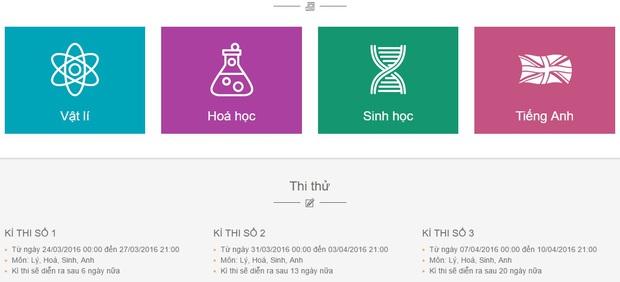 Tập thi Tốt nghiệp thử trên Cổng luyện thi của NXB Giáo Dục Việt Nam - Ảnh 2.