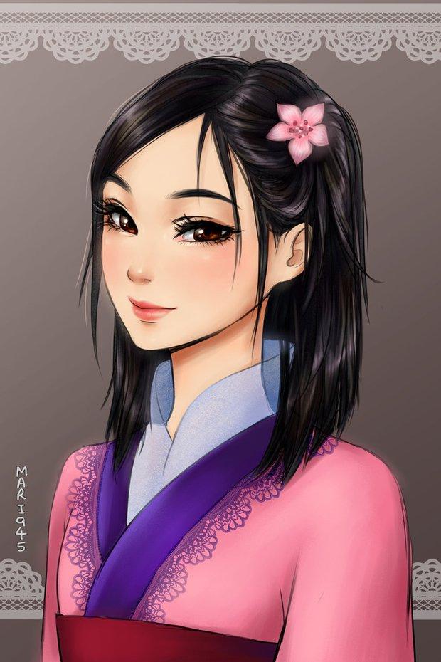Ngắm chân dung các bóng hồng Disney lạc vào xứ sở Anime - Ảnh 11.