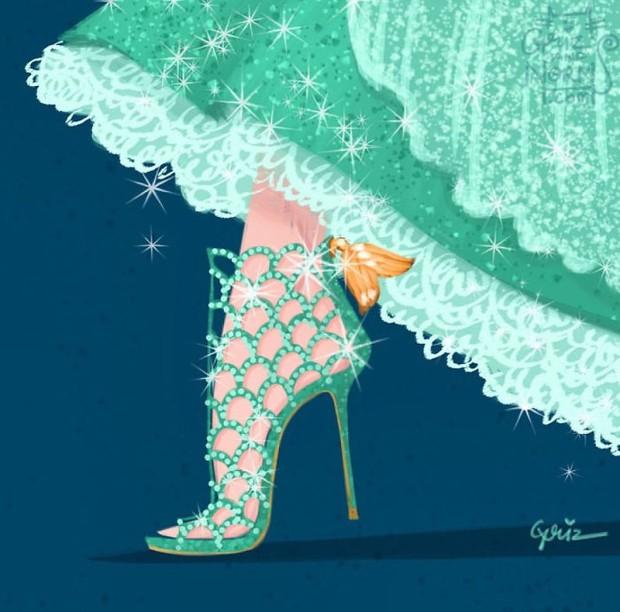 Bộ sưu tập giày hàng hiệu của các nàng công chúa Disney - Ảnh 4.