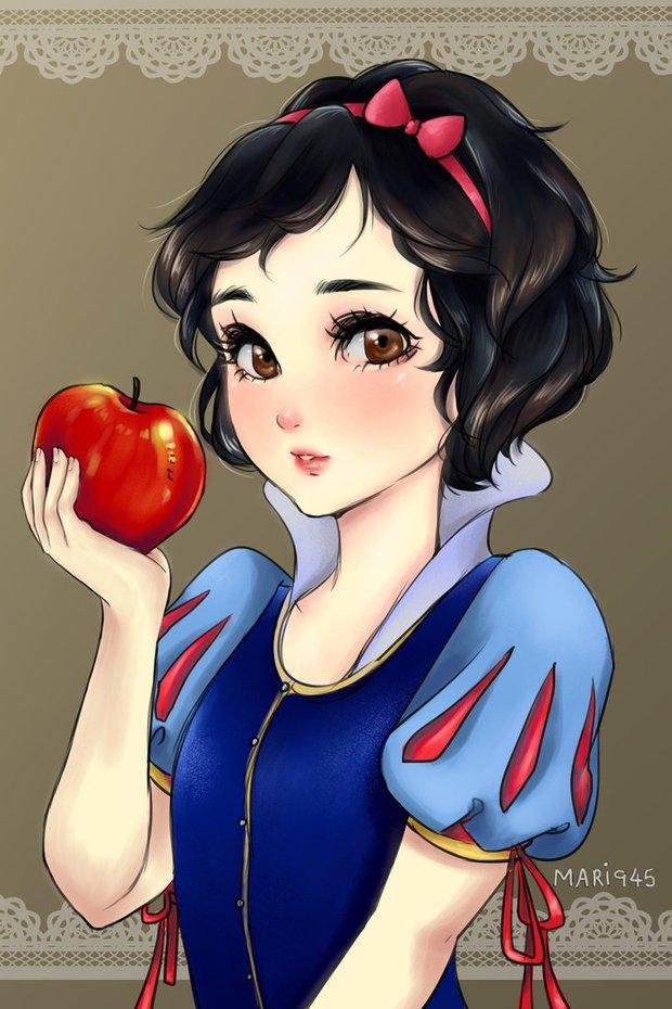 Ngắm chân dung các bóng hồng Disney lạc vào xứ sở Anime - Ảnh 5.