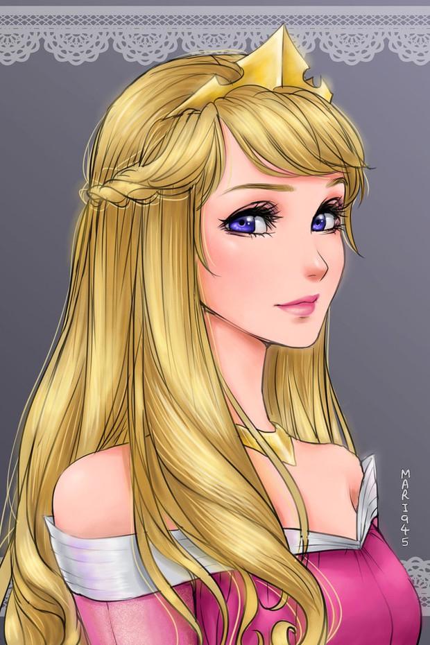 Ngắm chân dung các bóng hồng Disney lạc vào xứ sở Anime - Ảnh 6.