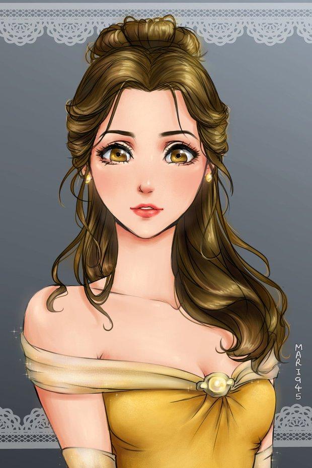 Ngắm chân dung các bóng hồng Disney lạc vào xứ sở Anime - Ảnh 9.