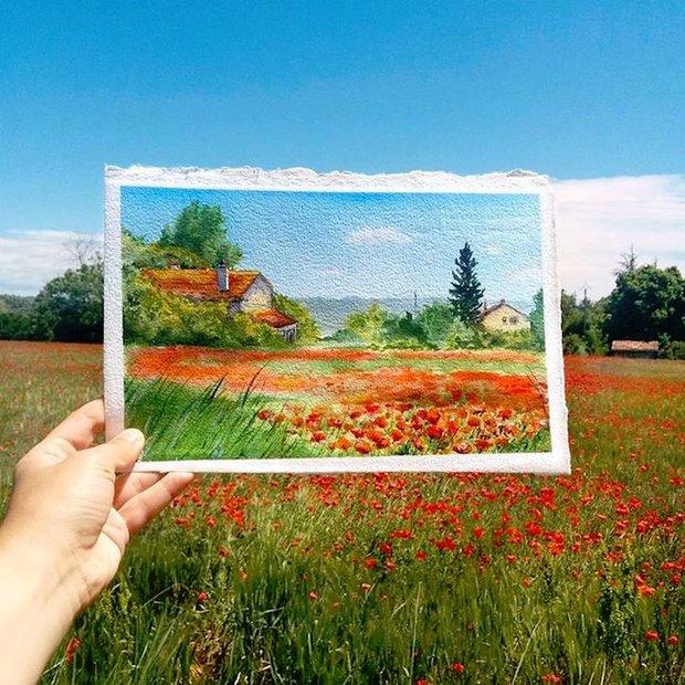 Khám phá cảnh đẹp thế giới qua bộ sưu tập tranh màu nước lung linh - Ảnh 1.