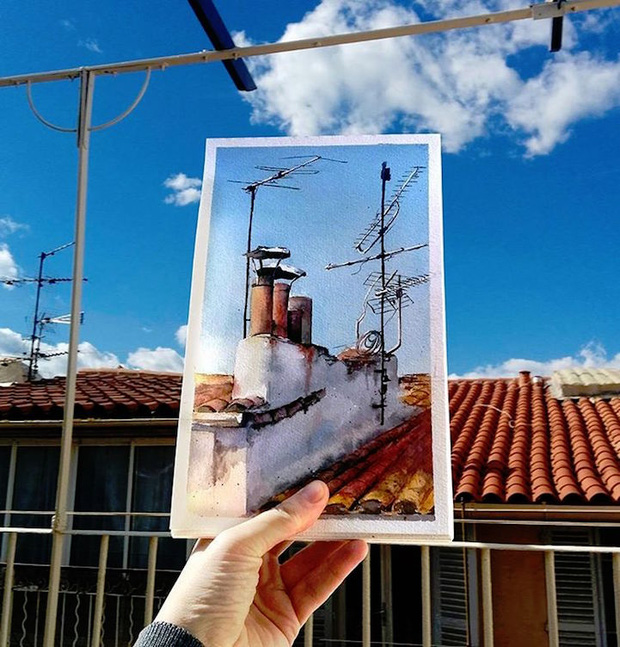 Khám phá cảnh đẹp thế giới qua bộ sưu tập tranh màu nước lung linh - Ảnh 11.