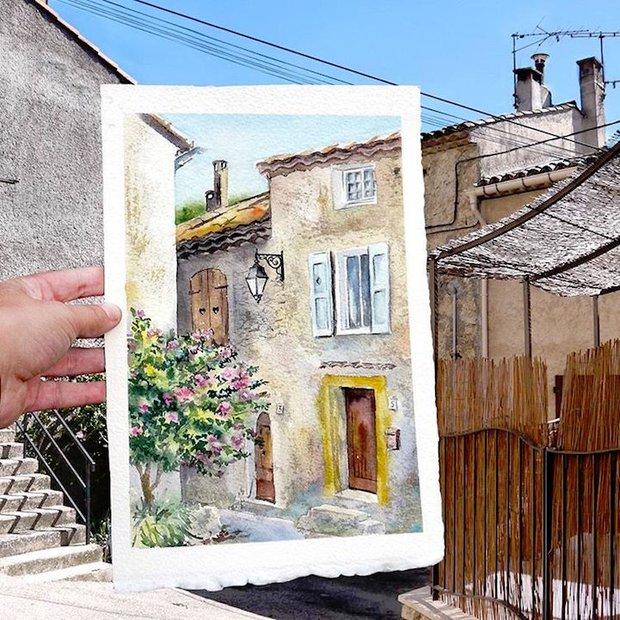 Khám phá cảnh đẹp thế giới qua bộ sưu tập tranh màu nước lung linh - Ảnh 12.