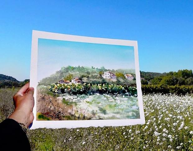 Khám phá cảnh đẹp thế giới qua bộ sưu tập tranh màu nước lung linh - Ảnh 3.