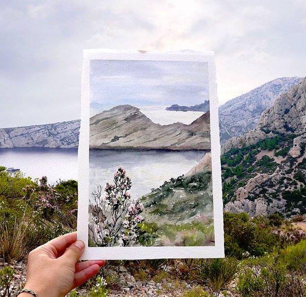 Khám phá cảnh đẹp thế giới qua bộ sưu tập tranh màu nước lung linh - Ảnh 4.