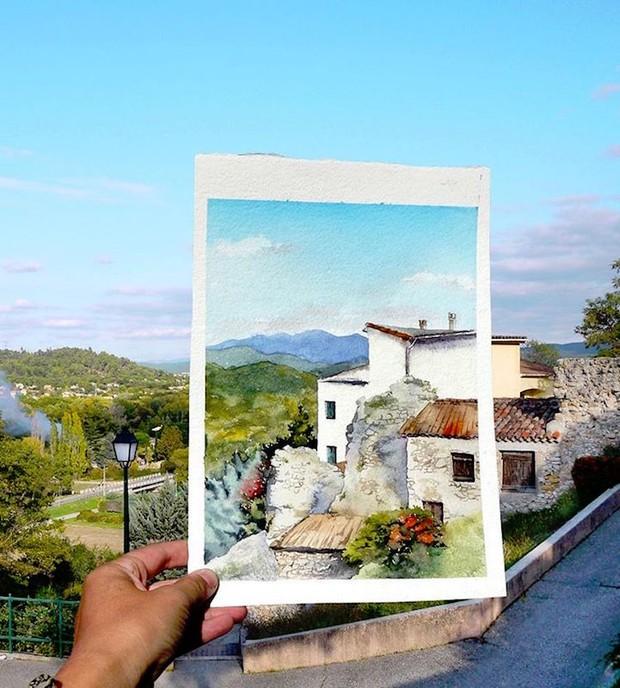 Khám phá cảnh đẹp thế giới qua bộ sưu tập tranh màu nước lung linh - Ảnh 7.