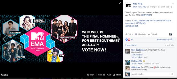 MTV Việt Nam giải thích về lùm xùm bình chọn EMA 2016 sau chiến thắng của Đông Nhi - Ảnh 2.