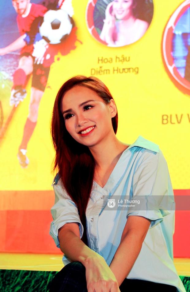 Hoa hậu Diễm Hương mong người hâm mộ tránh xa cá độ mùa Euro 2016 - Ảnh 3.