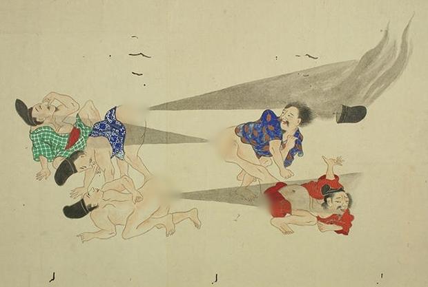 Thả bom nguyên tử - dòng tranh dân gian chế của Nhật Bản có thể bạn chưa biết - Ảnh 1.