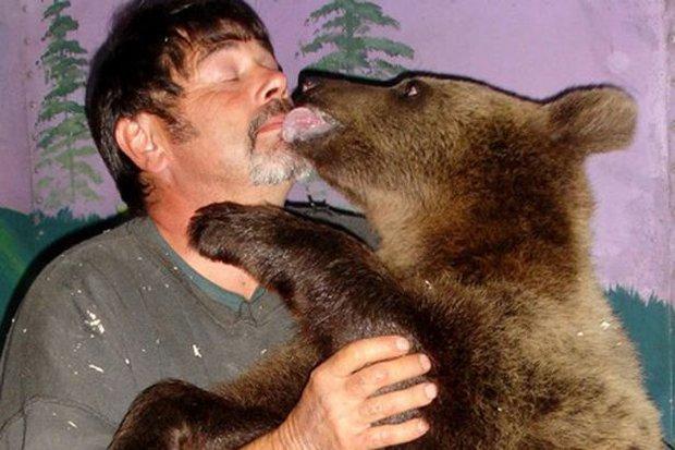 Đôi vợ chồng chung sống với gấu khổng lồ hơn 600kg dưới một mái nhà hàng chục năm qua - Ảnh 3.