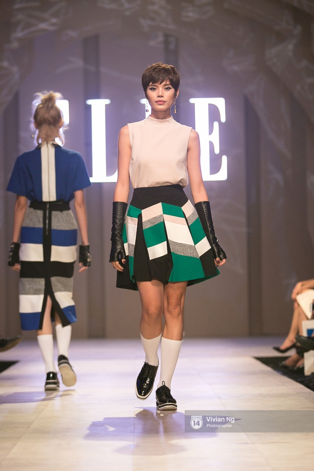 Phải nhập viện vào phút chót, Mai Ngô vẫn không bỏ lỡ cơ hội đọ trình catwalk với Phí Phương Anh trong Elle Fashion Show - Ảnh 53.