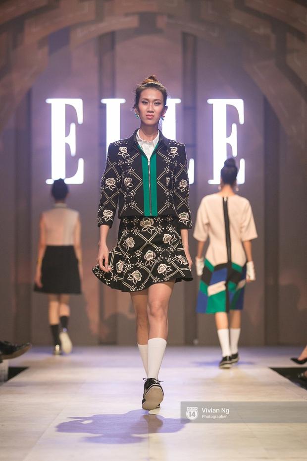 Phải nhập viện vào phút chót, Mai Ngô vẫn không bỏ lỡ cơ hội đọ trình catwalk với Phí Phương Anh trong Elle Fashion Show - Ảnh 57.