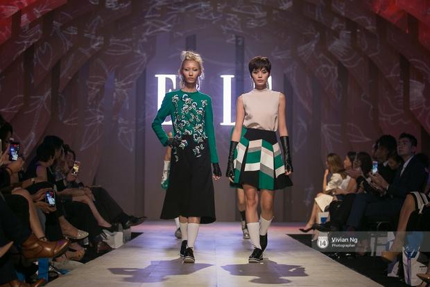 Phải nhập viện vào phút chót, Mai Ngô vẫn không bỏ lỡ cơ hội đọ trình catwalk với Phí Phương Anh trong Elle Fashion Show - Ảnh 62.