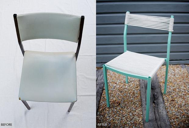 Mách bạn một cách tái chế ghế cũ dễ như ăn bánh - Ảnh 10.