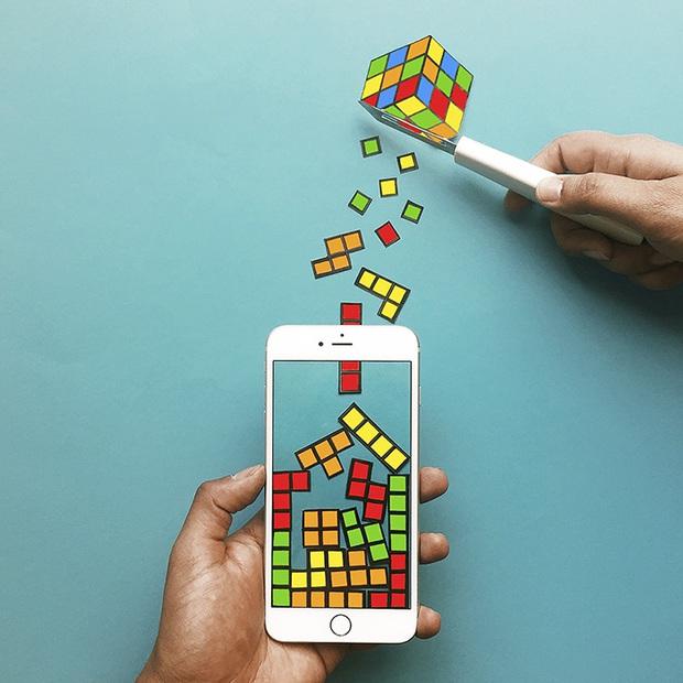 Với hoa tay của chàng họa sĩ này, iPhone không chỉ còn là chiếc điện thoại - Ảnh 2.