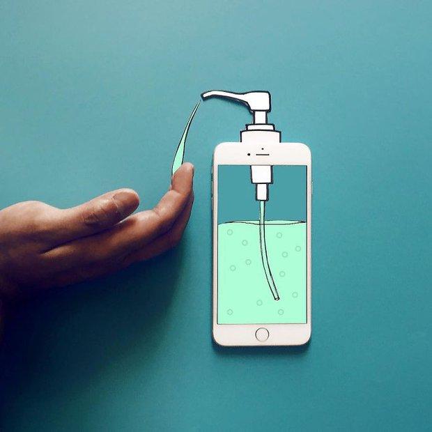Với hoa tay của chàng họa sĩ này, iPhone không chỉ còn là chiếc điện thoại - Ảnh 3.