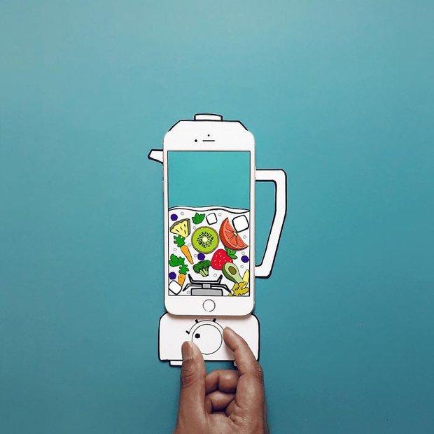 Với hoa tay của chàng họa sĩ này, iPhone không chỉ còn là chiếc điện thoại - Ảnh 8.