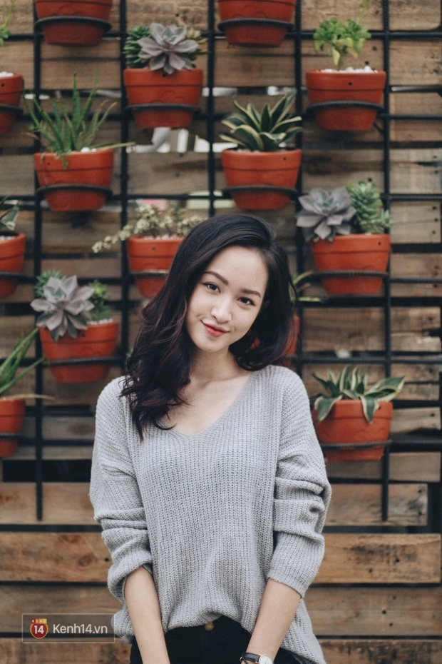Lê Vi: Cô nữ sinh Hà Nội sở hữu nụ cười xinh chết người - Ảnh 13.