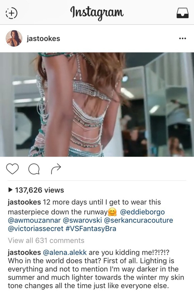Thiên thần Victorias Secret trả lời về tin đồn tẩy trắng da: Da tôi đổi màu theo mùa - Ảnh 2.